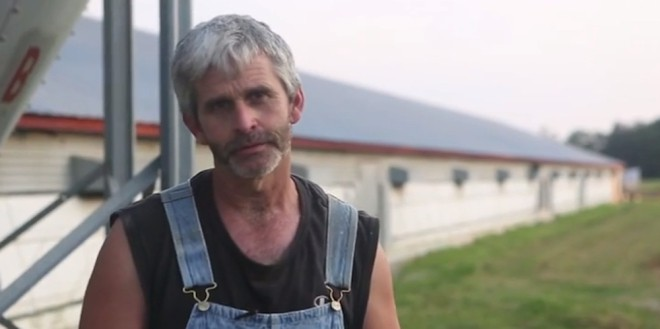 Farmer Craig Watts. original: video by Compassion in World Farming